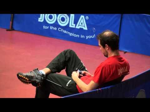 Table Tennis Practicing Robert Gardos --Tomas Pavelka TTC Zugbruecke Grenzau