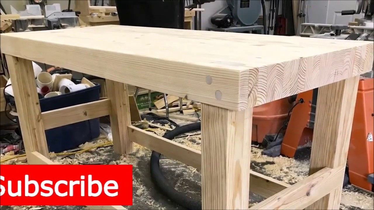 Workbench Diy How To Build And Make A Sturdy Cheap Work Bench