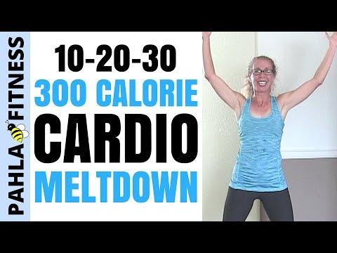 10-20-30 CARDIO Meltdown | Burn 300 Calories | TOUGH 30 Minute FAT BURNING Home Workout
