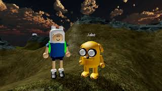 Adventure Time intro but poorly and low budget-y made in Roblox