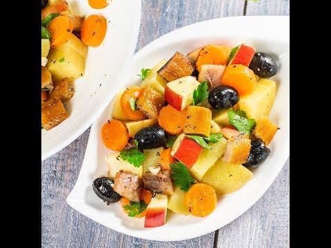 Salată de cartofi cu scrumbie afumată