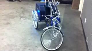 Lowrider Tricycle Custom LED lighting phase 1 Al & Ed's Marina