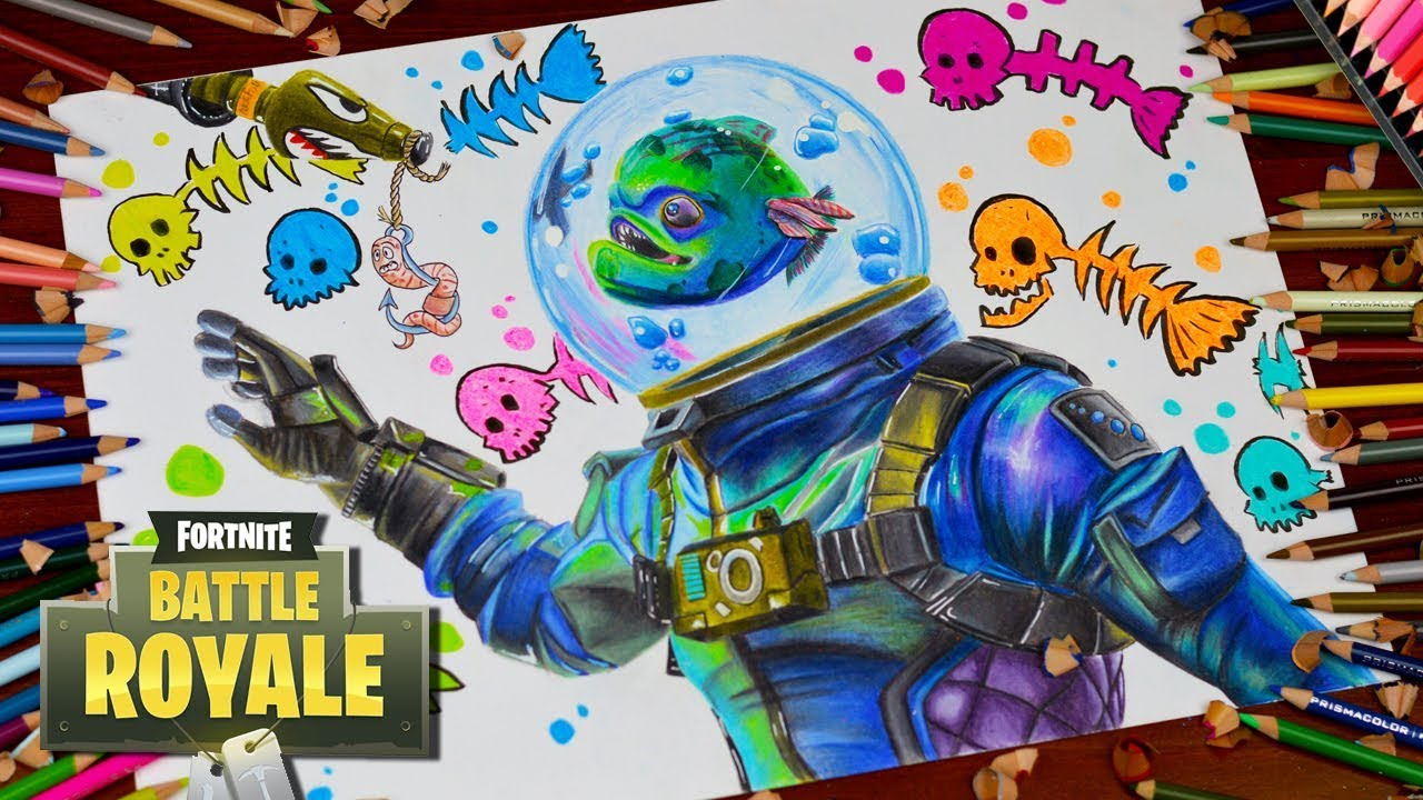 Drawing Fortnite Battle Royale Leviathan New Legendary
