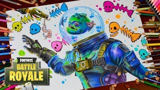 Dessin Fortnite Battle Royale Leviathan - New Legendary Skin - How to Draw Leviathan / lookfishart