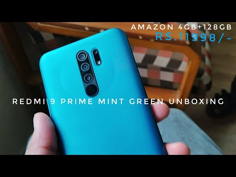 Amazon's Redmi 9 Prime MINT GREEN UNBOXING | CAMERA SHOTS | 4GB RAM | 128GB Internal Storage