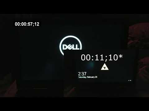 Dell Inspiron 7577 Boot time with HDD vs without.