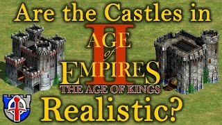 Are the castle from age of empires II historically accurate?