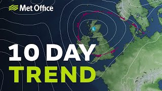 10 Day trend – Typical summer weather? 04/08/21