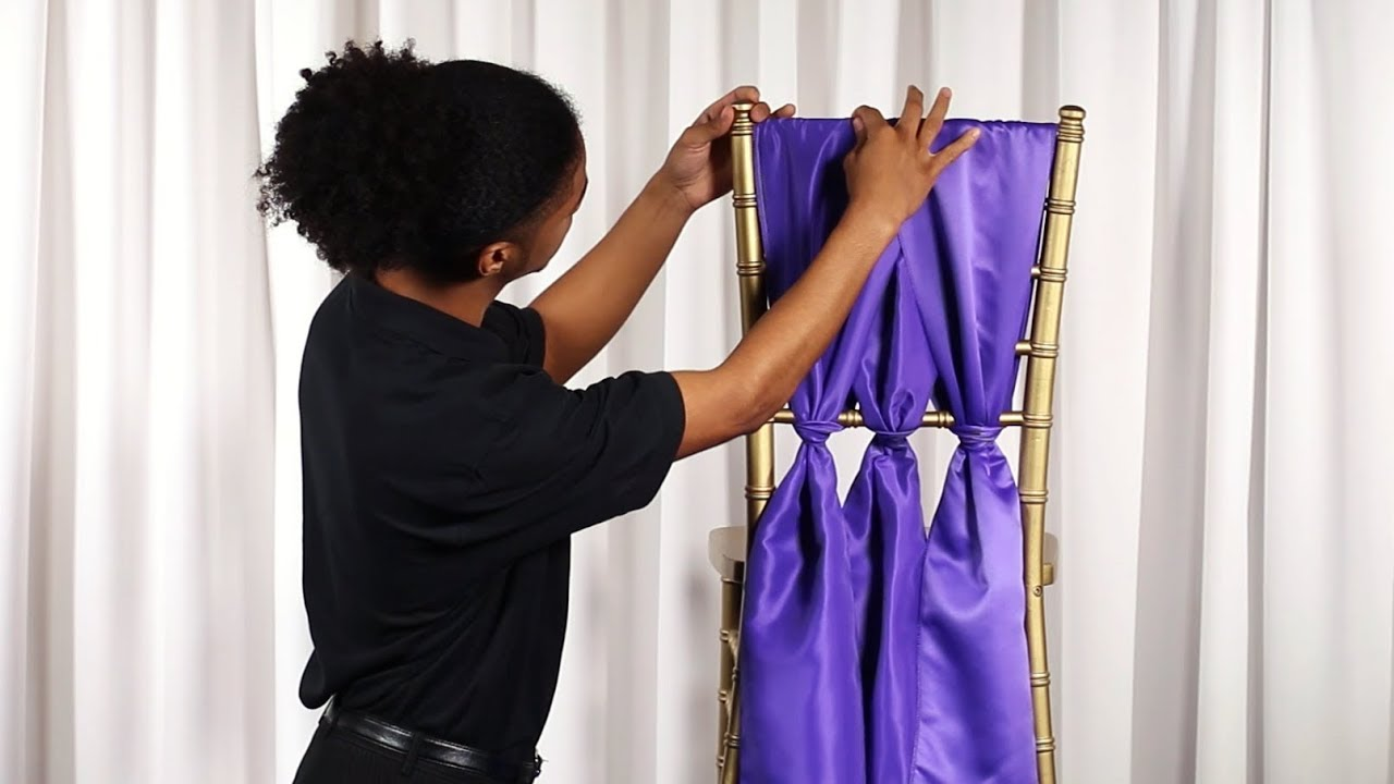 How To Tie A Cinched Chiavari Chair Sash Youtube