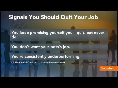 The Signals That Say It's Time to Quit Your Job