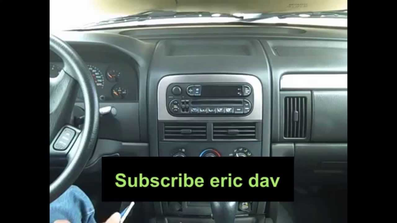 how to remove car stereo from 1999 2004 jeep grand cherokee youtube 1999 Jeep Grand Cherokee