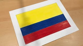 Colombian Flag Drawing 🇨🇴
