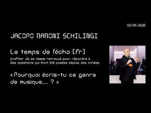 Le Temps De L'écho [.FR] 02 04 2020 «Pourquoi écris-tu Ce Genre De Musique… ? »