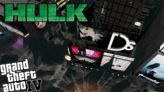 GTA IV Hulk Mod + Tsunami - Hulk vs Police and a HUGE TSUNAMI!