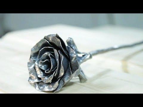 Как самому сделать розу из металла