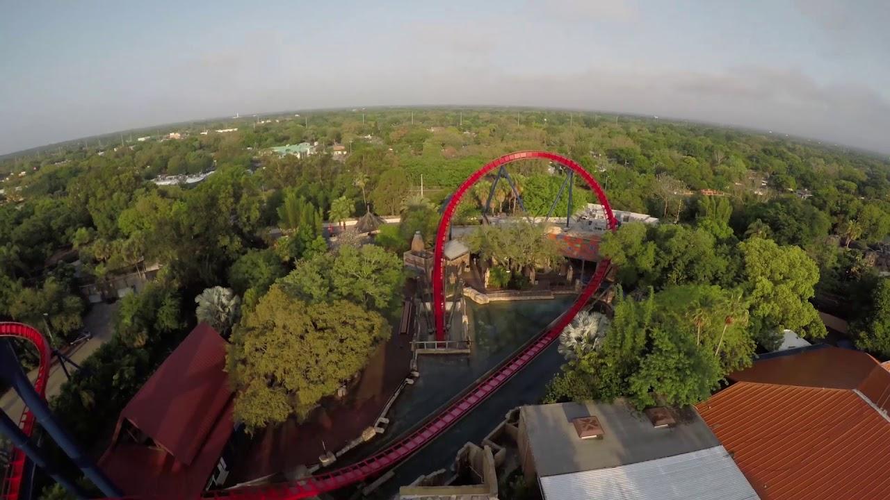 Sheikra Coaster POV at Busch Gardens Tampa - YouTube