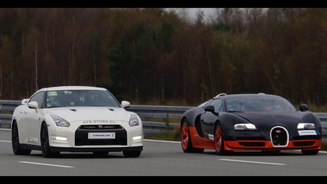 Race Nissan Gtr Alpha Vs Bugatti Veyron Vitesse Hp