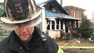 White Pigeon fire chief talks about fatal house fire