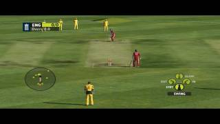 Ashes Cricket 2009 [PC] Gameplay - Perfect Example Of How To Take Catches [HD]