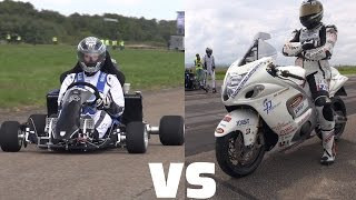 Suzuki GSX 1300R Hayabusa vs 230HP Kart CBR1000RR Fireblade(Now this will probably the strangest thing you'll see!! During the SCC500 Deutsche Meisterschaft Rolling50 1000 in Lahr Germany, I have filmed a 230HP Mega ..., 2016-06-06T17:59:34.000Z)