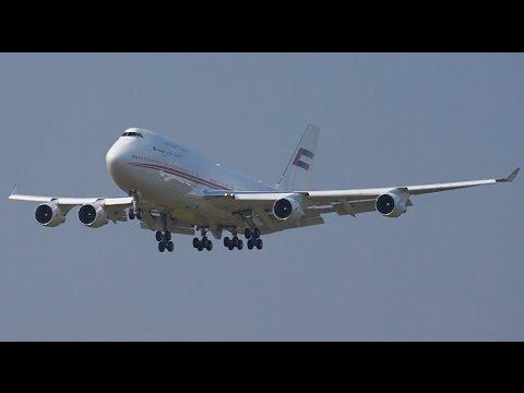 Boeing 747-400 in Bratislava / Slovakia / Mohammed bin Rashid al-Maktoum