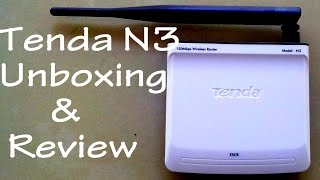 Tenda N3 N150 1 LAN Wireless Router Unboxing and hands-on review