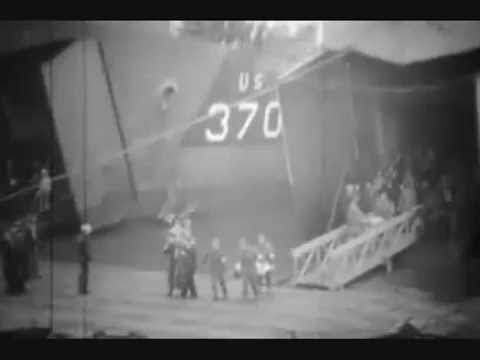 CASUALTIES OF D-DAY ARRIVE AT THE PORT OF SOUTHAMPTON ON 8 JUNE 1944