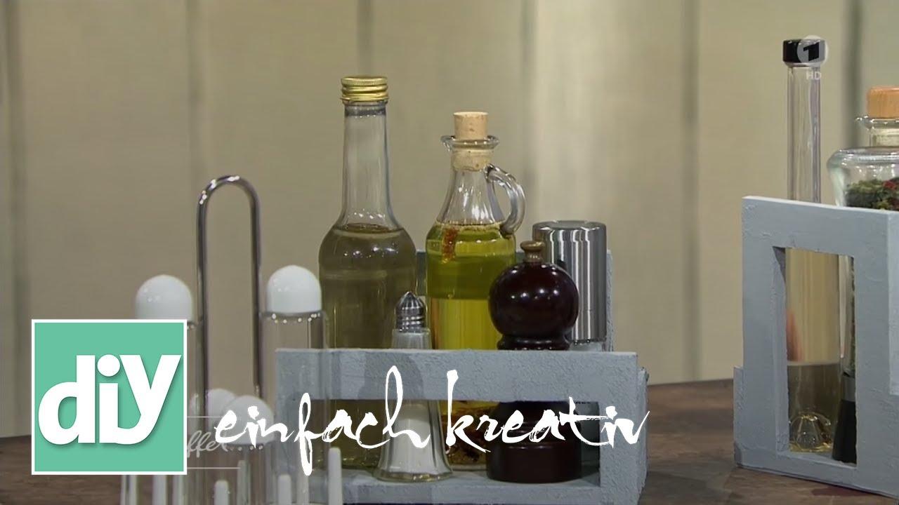 Menage in beton optik diy einfach kreativ youtube for Gastronomie deko