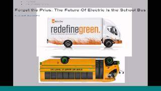 All-Electric School Bus for Total Zero Emission