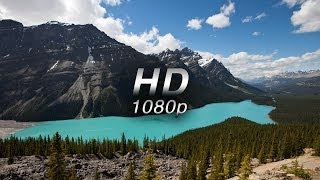 'Mountains of Majesty' (w Music) 1 HR  Nature Relaxation™ Banff & Alberta  1080p