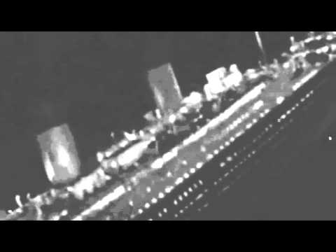Real Titanic sinking  footage