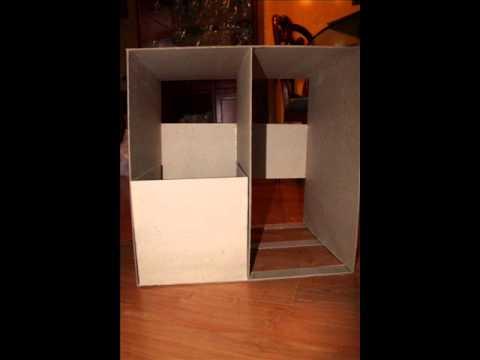 Mesa de noche de carton piedra youtube - Mesas de carton ...