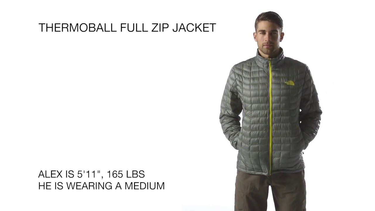 b7e14face5 The North Face Men s ThermoBall Full Zip Jacket - YouTube
