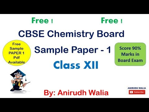 CBSE Free Papers || CBSE Chemistry Papers || CBSE XII Paper ...