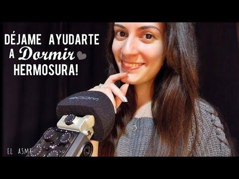 ♡ASMR español♡ DÉJAME AYUDARTE A DORMIR, HERMOSURA!♥ (tongue clicking,agua,tarareo,brushing)