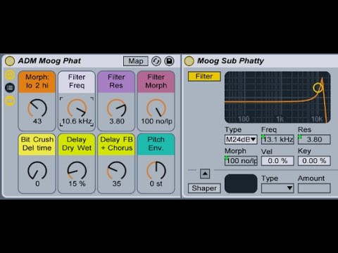 Moog Sub Phatty Ableton Live Instrument Rack Free