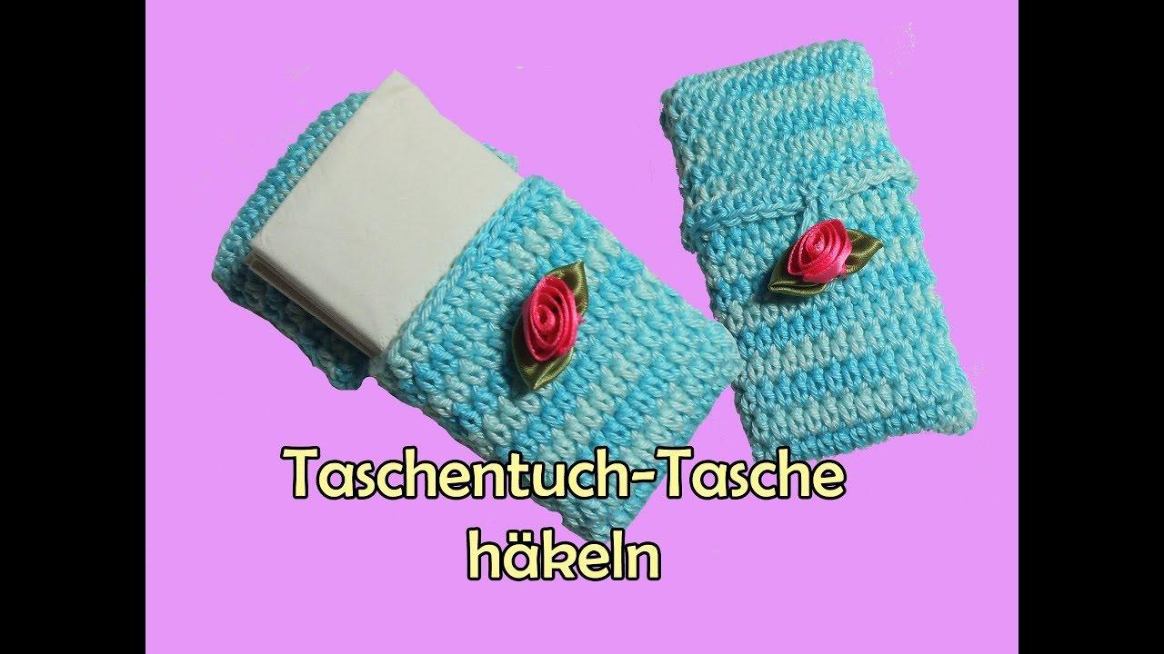 Taschentuch-Tasche häkeln - DIY Häkelanleitung - YouTube