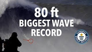 Guinness World Record: Biggest Wave Ever Surfed (80 Feet) Rodrigo Koxa @ Nazaré, Portugal