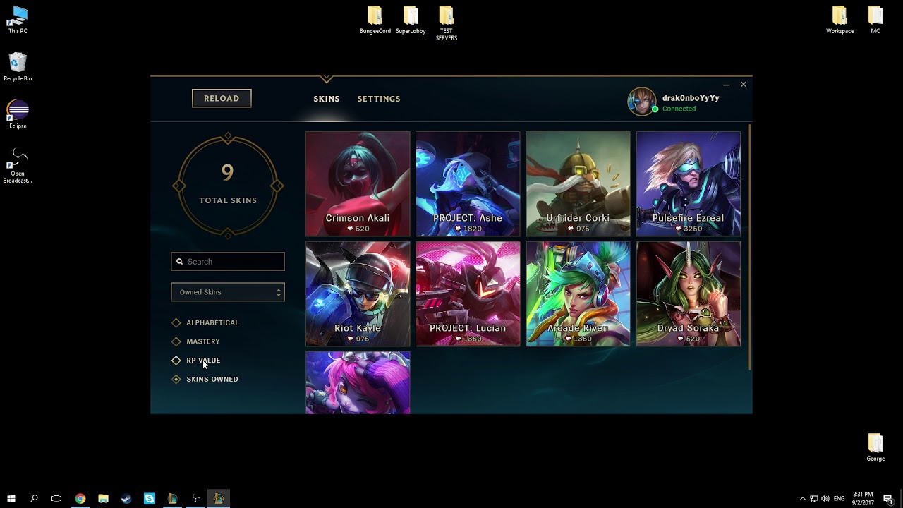 check my skins league of legends