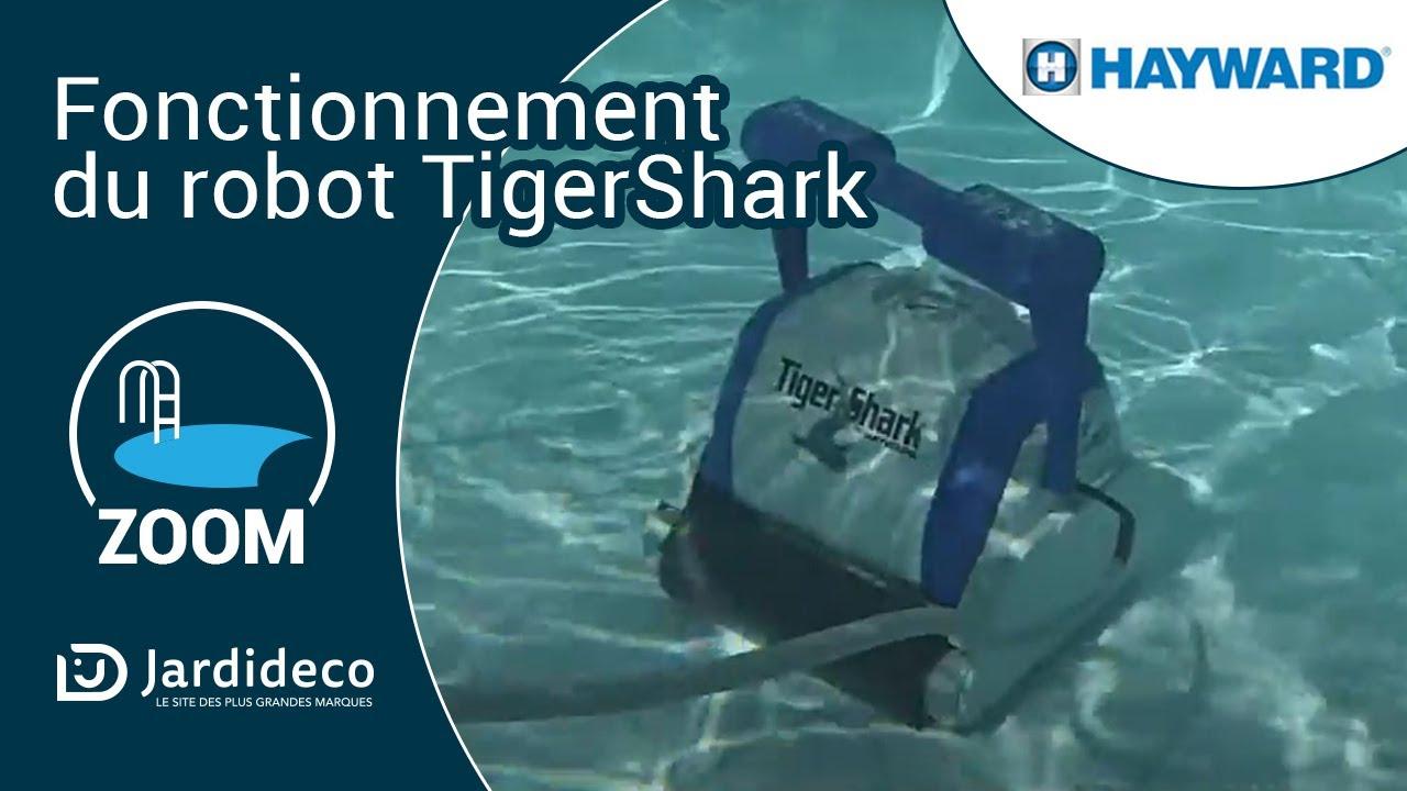 fonctionnement du robot de piscine lectrique tiger shark. Black Bedroom Furniture Sets. Home Design Ideas