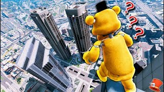 WILL FREDDY JUMP OFF THE TALLEST SKYSCRAPER? (GTA 5 Mods FNAF RedHatter)