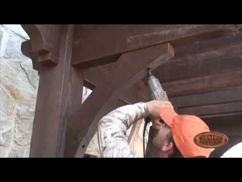 Pergola - DIY - 8 of 12   Setting the Knee Braces - Timber Pergola Kit Installation How to