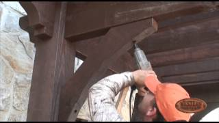 Pergola - Diy - 8 Of 12 | Setting The Knee Braces - Timber Pergola Kit Installation How To