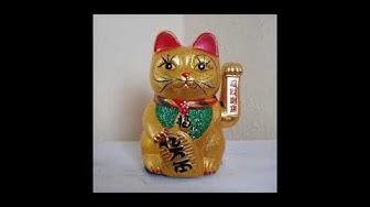 Winkekatze Maneki-neko winkende Katze Manekineko Glücksbringer