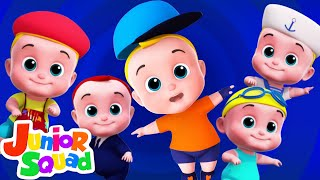 Five Little Babies jumping On The Bed | Nursery Rhymes & Kids Songs For Children