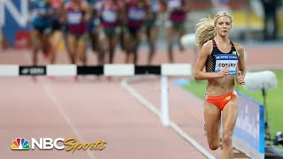 Emma Coburn, not a pacemaker, demolishes steeplechase field in Shanghai | NBC Sports