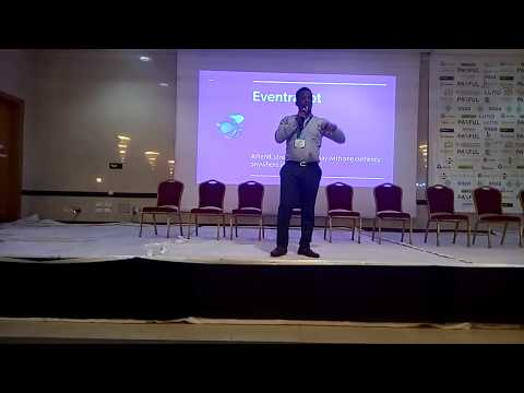 Eventrabbt's pitch at the Blockchain and cryptocurrency conference, Lagos Nigeria.