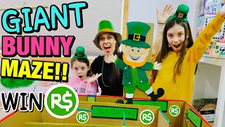 GIANT BOX FORT BUNNY MAZE! WIN ROBUX, LOL Dolls & MORE COOL TOYS! Funny Bunny Sunday #5