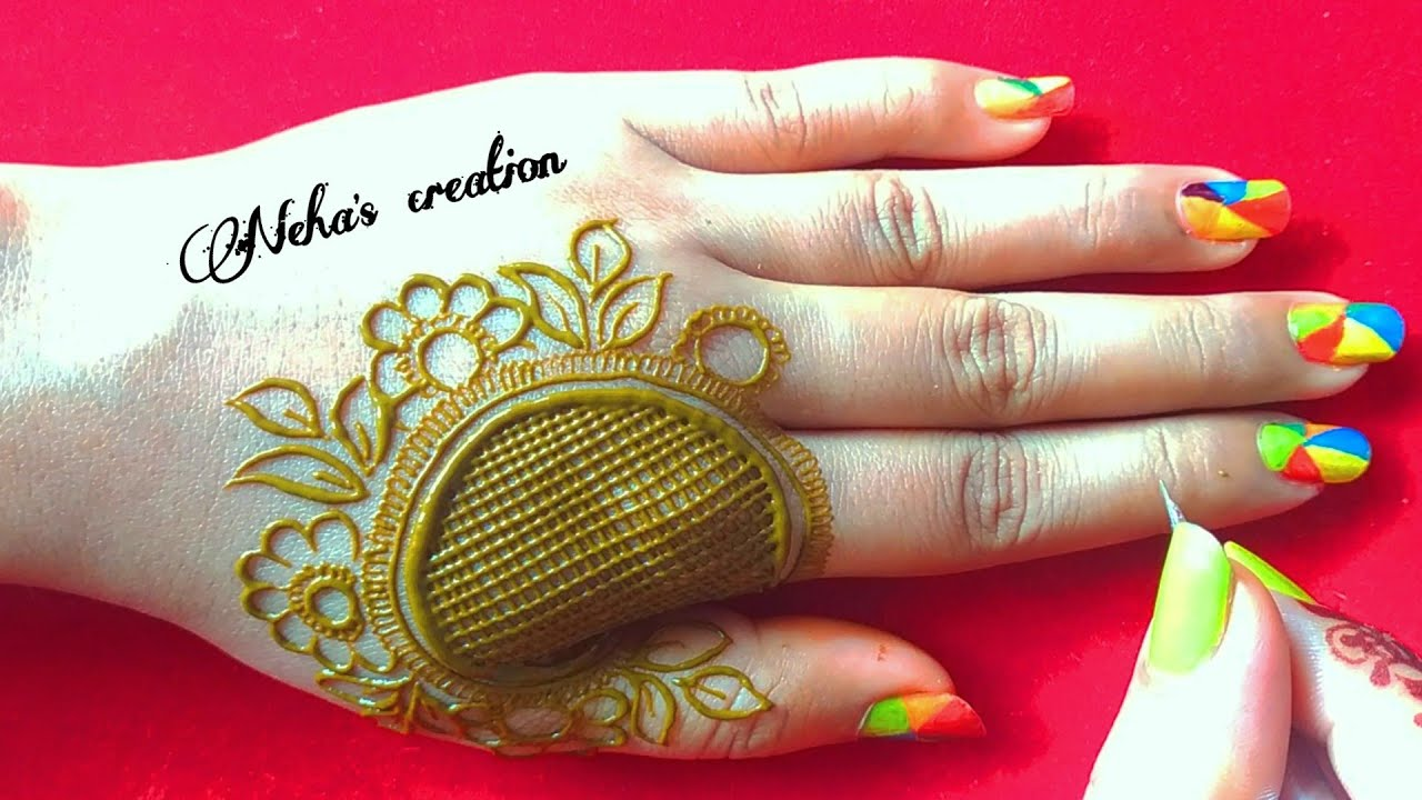 Semi Floral henna design ll unique mehandi design ll classic+modern मेहंदी डिजाइन for back hand