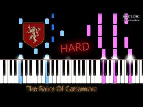 Game Of Thrones The Rains Of Castamere Hard Piano Tutorial Free Sheet Music Youtube